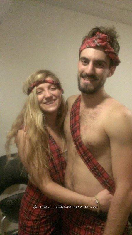 Easy Badass Braveheart Couple Costume - 2