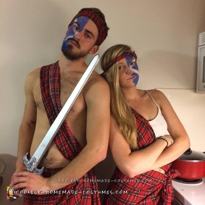 Easy Badass Braveheart Couple Costume - 3