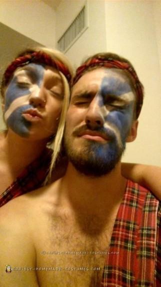Easy Badass Braveheart Couple Costume