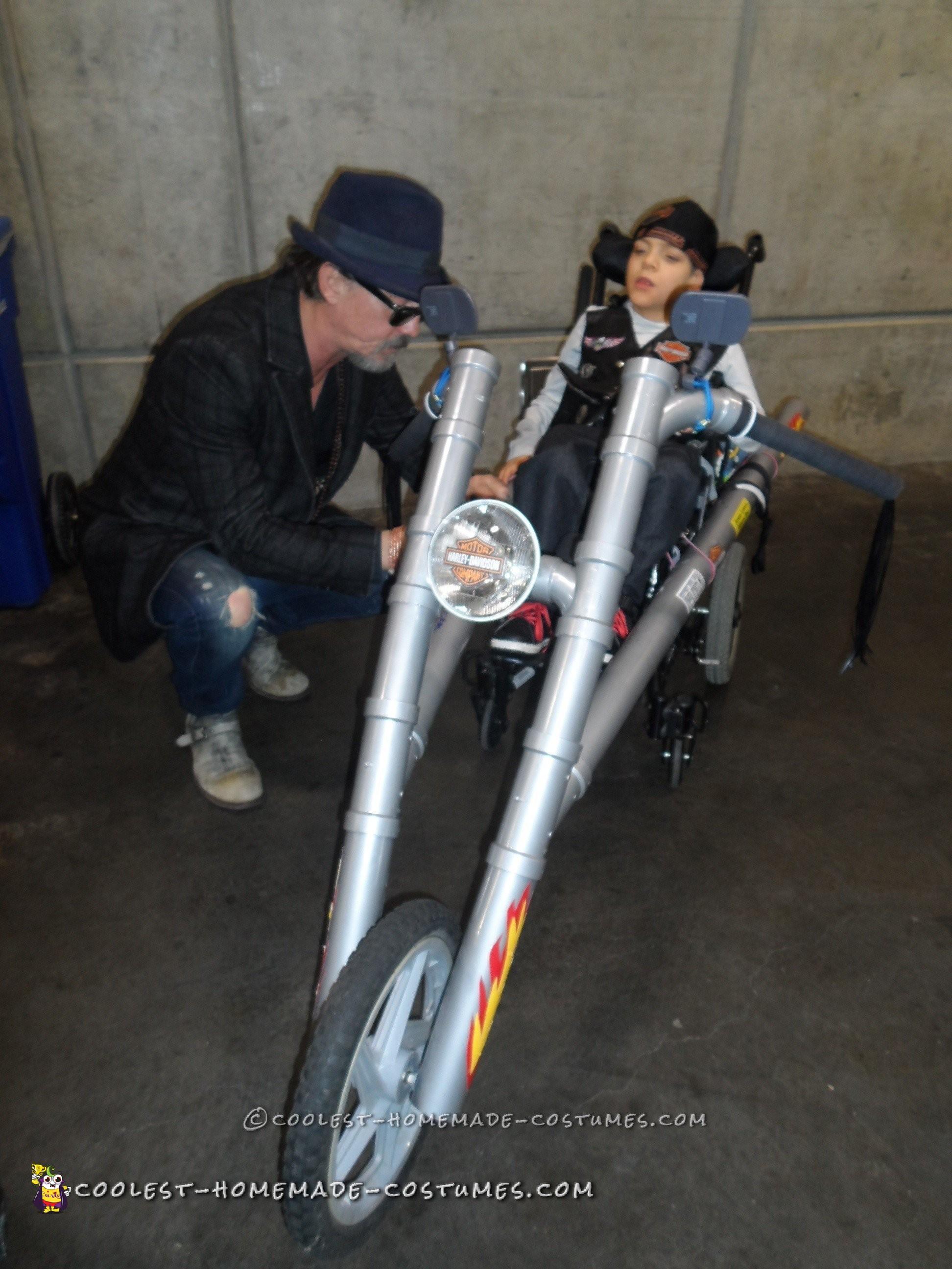PVC Pipe Harley Davidson Wheelchair Costume
