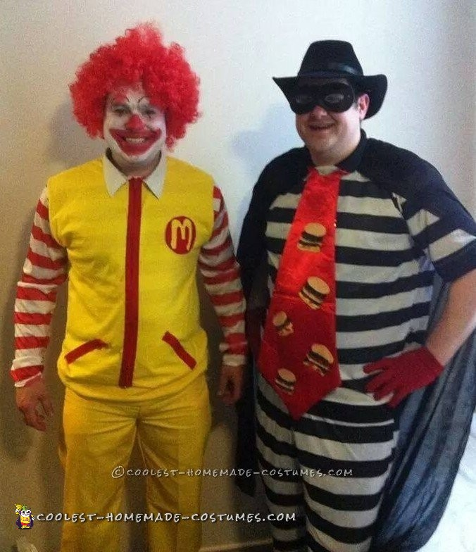 ronald and the hamburglar couple costume