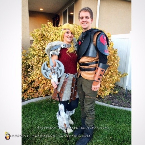 Awesome Astrid and Hiccup Couples Costume