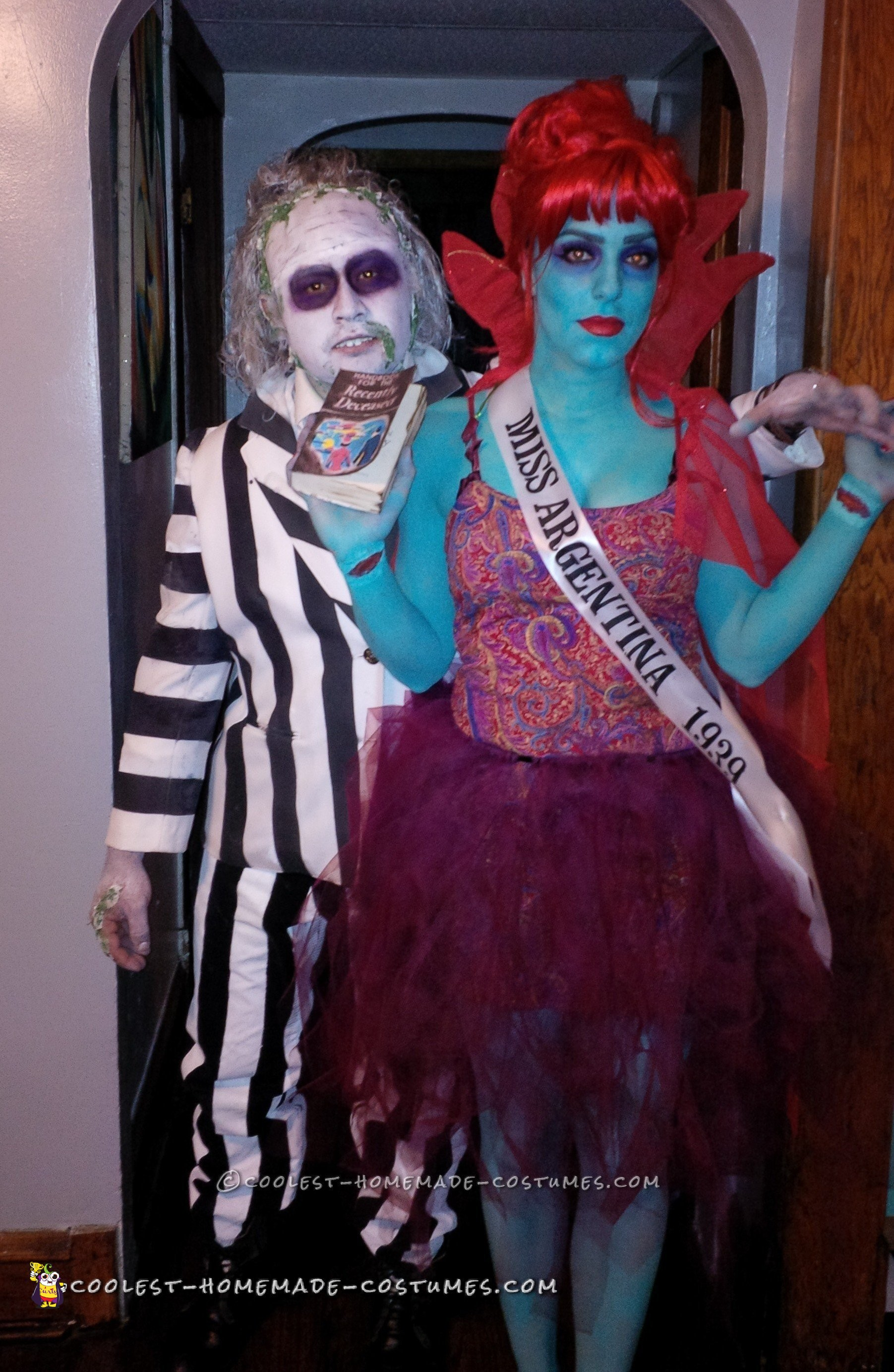 Beetlejuice and Miss Argentina Couple Costume