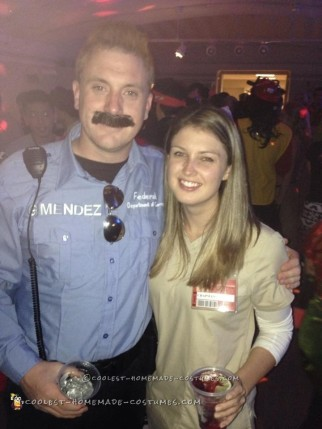 Piper and Officer Mendez (Pornstache) Couple Costume