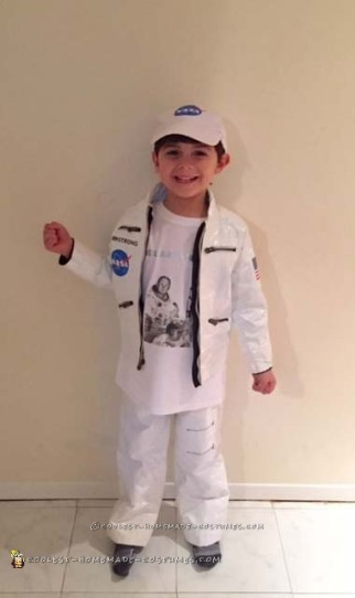Stylish Duct Tape Neil Armstrong Costume for a Boy
