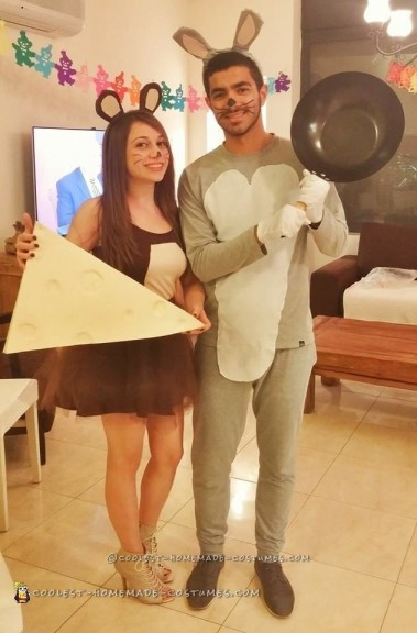 Tom and Jerry Homemade Couple Costume