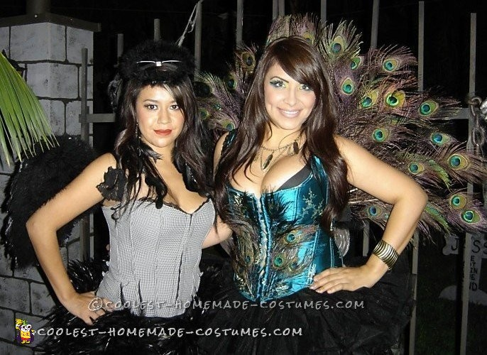 SEXY WOMANS PEACOCK COSTUME