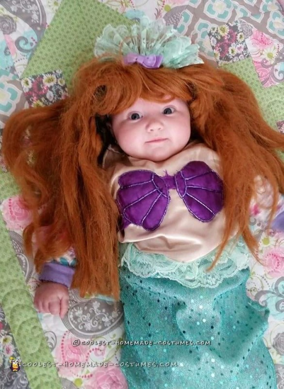 Cute Little Mermaid Costume for an Infant Girl