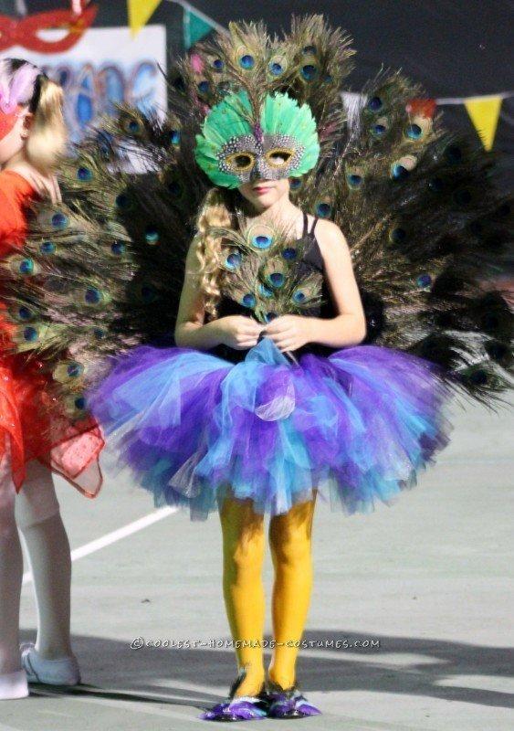 Stunning Girls Peacock Costume