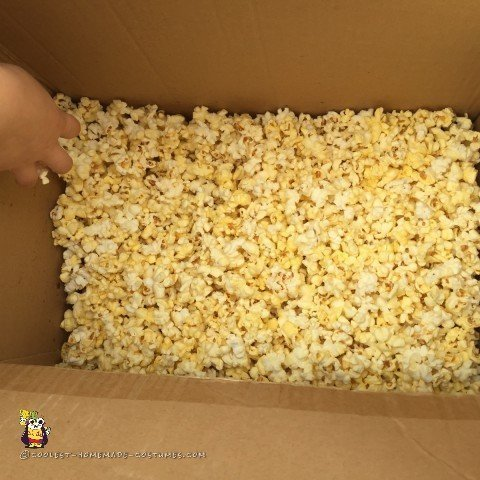 A box-full of Popcorn for the Popcorn Costume