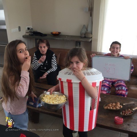 Eating all the Popcorn!