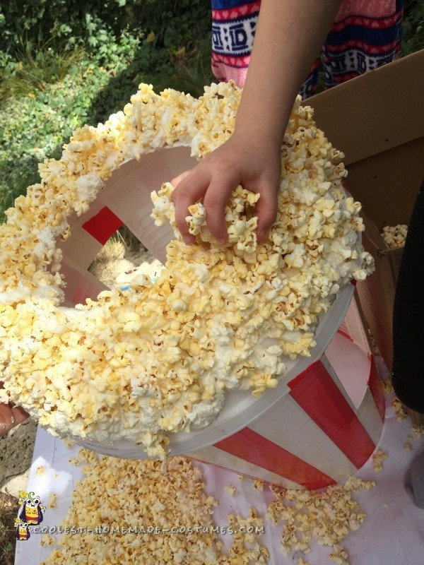 Adding the final nuggets to the Popcorn Costume
