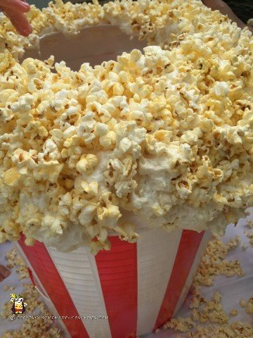 Closeup of the Popcorn on the costume