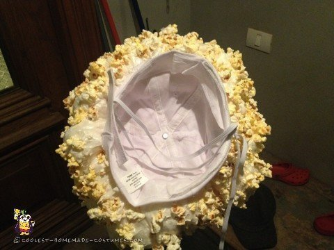 Finished Popcorn Costume Headpiece