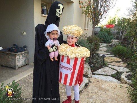 Alien Abduction Costume and Popcorn Costume