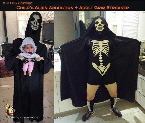 Alien Abduction and Grim Streaker Costumes