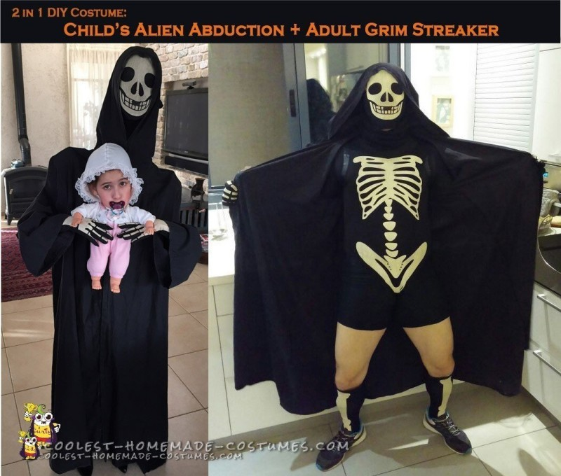 Alien Abduction Costume and Grim Streaker Costume