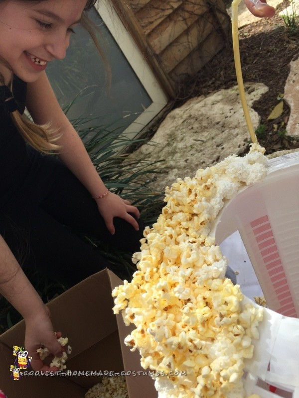 Foam and popcorn - starting to look like a Popcorn Costume