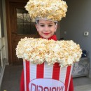 What a Cool DIY Popcorn Costume AND Ceiling Lampshade!