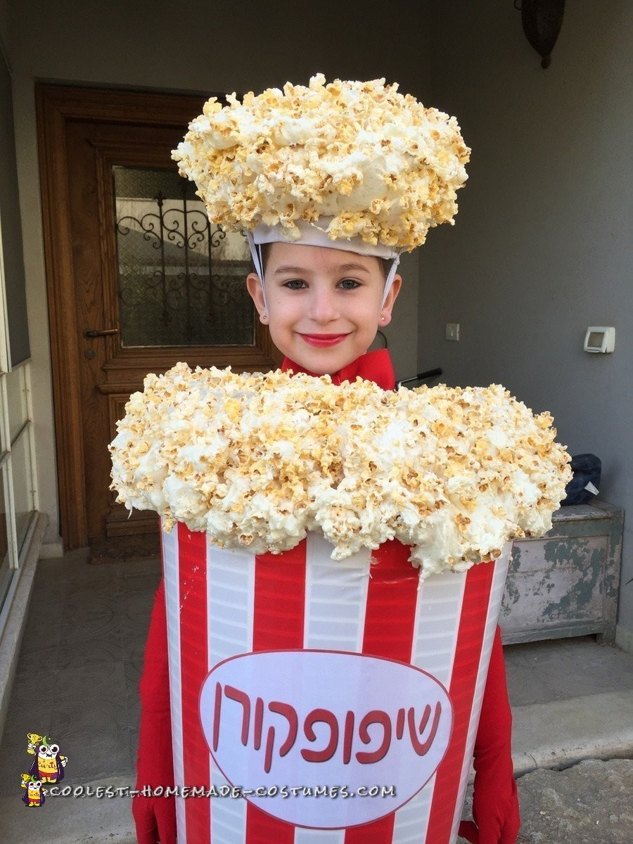 What A Cool Diy Popcorn Costume And Ceiling Lampshade