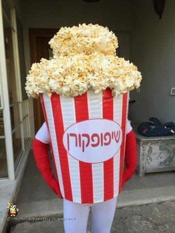 Hiding inside the Popcorn Costume