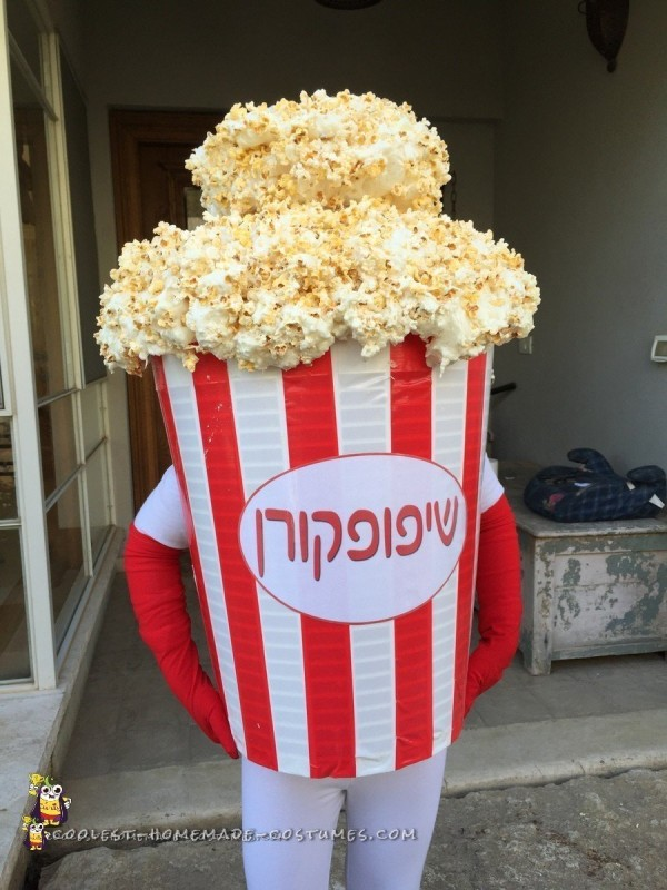 Hiding in the Popcorn costume