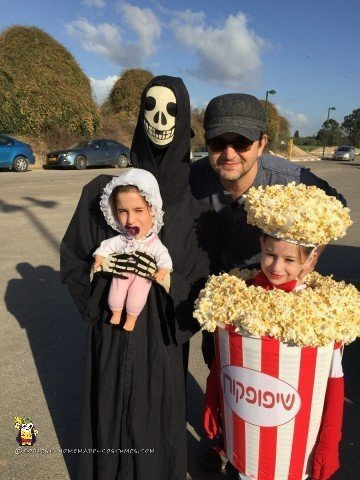 Popcorn Costume and Alien Abduction Costume