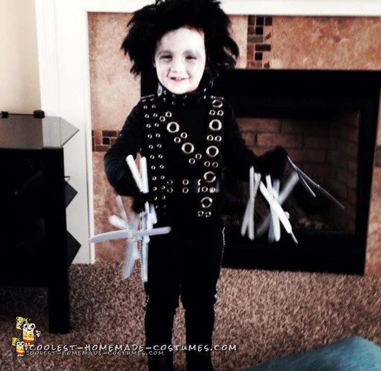 Coolest Edward Scissorhands Costume for a Toddler