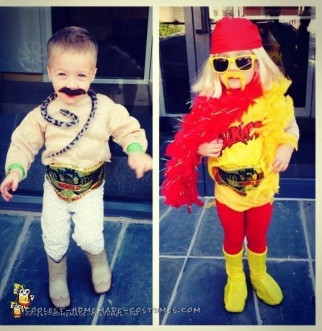 Hulk Hogan and Jake the Snake DIY Toddler Costumes