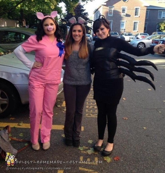 Coolest Charlotte's Web Girl Group Costume