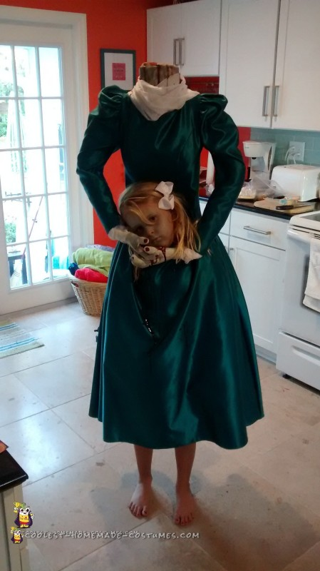 Creepy Headless Homemade Costume for a Girl