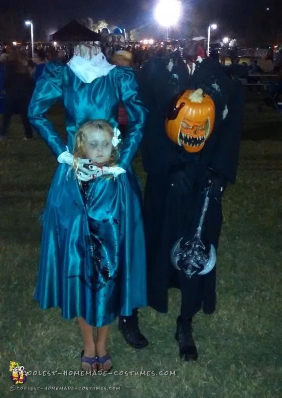 Creepy Headless Homemade Costume for a Girl - 3