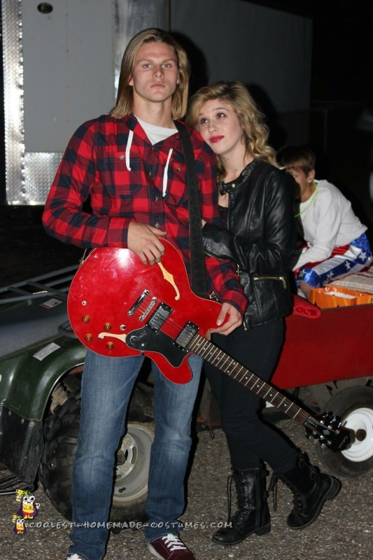 Kurt Cobain and Courtney Love Couple Costume - 1