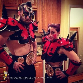 Contest-Winning DIY Couple Costume: Legion Of Doom - The Road Warriors