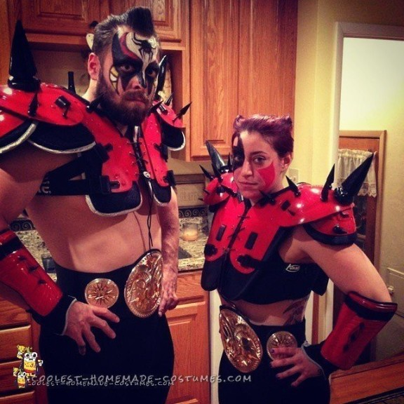 Contest-Winning DIY Couple Costume: Legion Of Doom - The Road Warriors