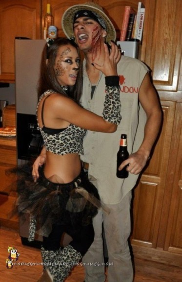 Leopard and Safari Guide Couples Costume