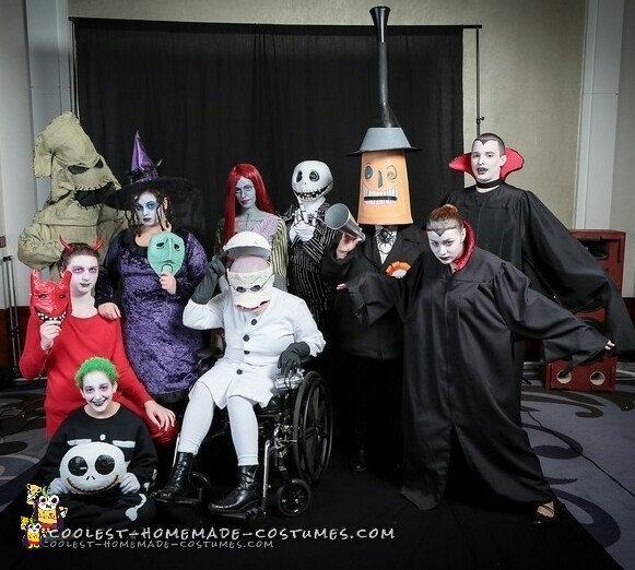 Awesome Nightmare Before Christmas Group Costume