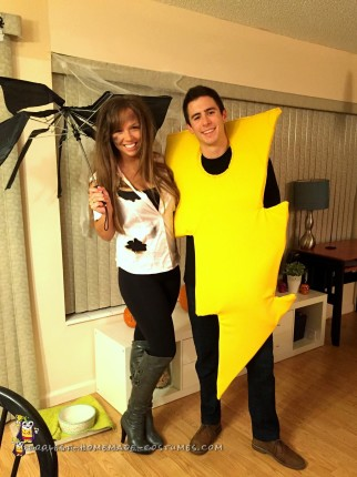 DIY Struck by Lightning Couple Costume
