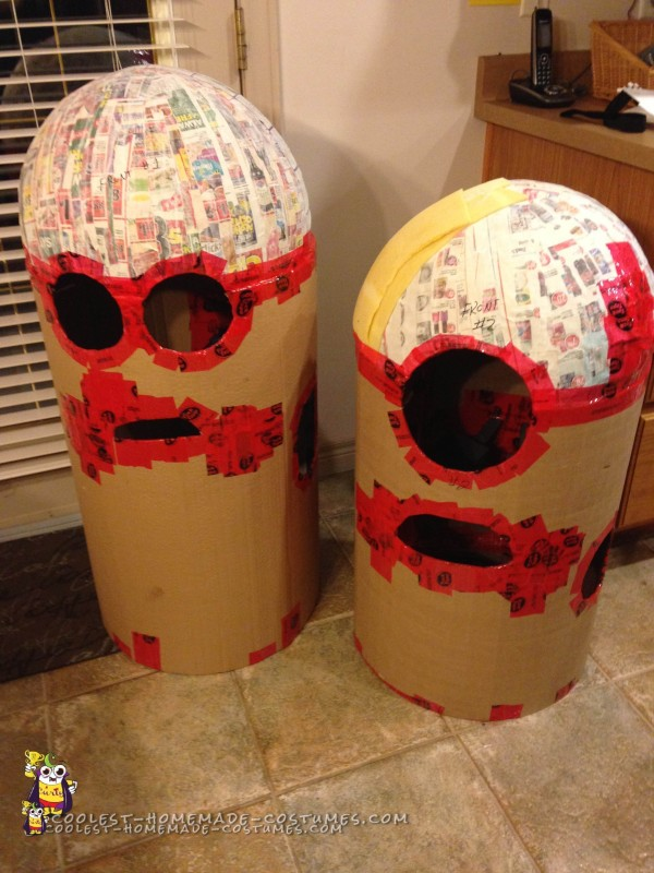 Assembled bodies for both Minion Costumes