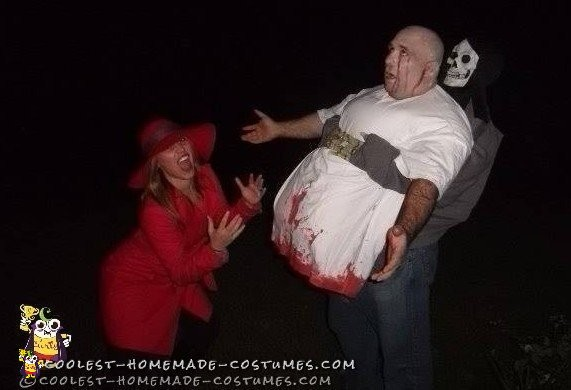 Death Zombie Half Man  Illusion