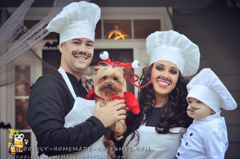 Lobster Dog and Baby Chef Costume