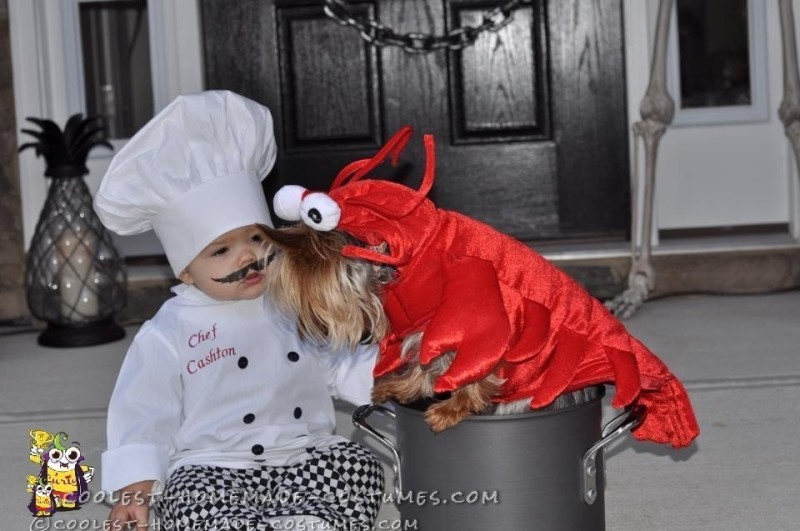 Baby Chef and Dog Lobster Costume