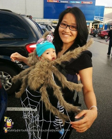 Cool Baby and Mom Costume - Spider and Web