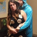 No-Sew Cookie Monster and Cookie Couple Costume