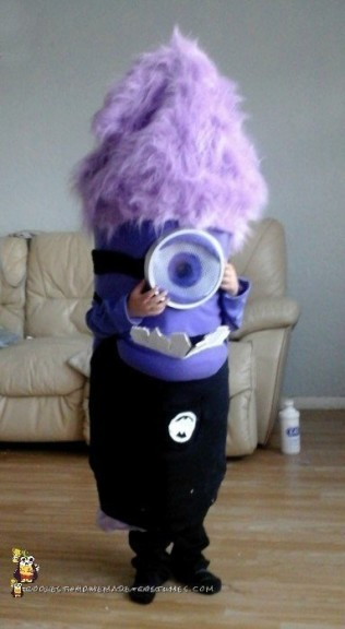 Easy Evil Purple Minion Costume