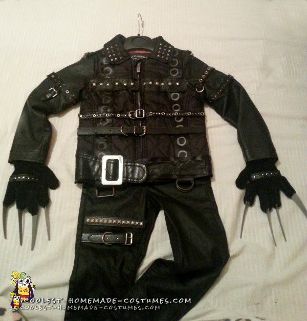 3 Year Old Edward Scissorhands Halloween Costume - 1