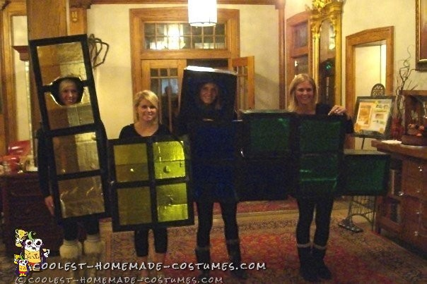 Human Tetris Group Costume for 4 Girls