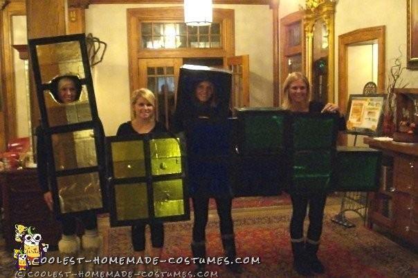 Human Tetris Group Costume for 4 Girls