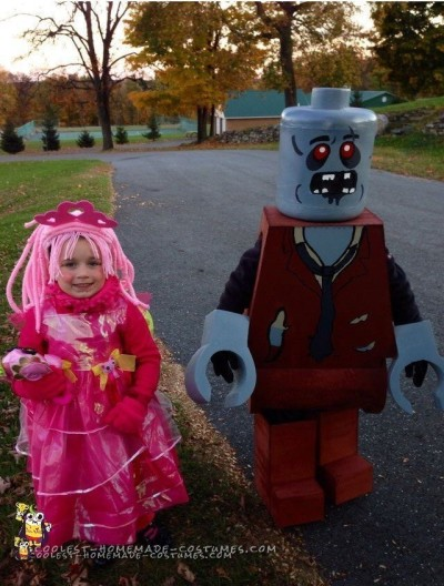 Zombie Minifigure Costume for a Boy and Little LaLaLoopsy Sister