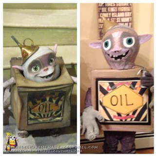 Coolest DIY Boxtrolls Costumes:  Oil Can and Sparky